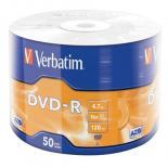 Диск DVD Verbatim 4.7Gb 16X Wrap-box 50шт MATT SILVER Фото