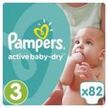 Подгузник Pampers Active Baby-Dry Midi Размер 3 (5-9 кг), 82 шт Фото