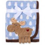Одеяло Luvable Friends с рисунком  животных для мальчиков Фото