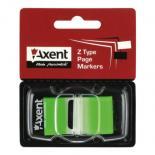 Стикер-закладка Axent Plastic bookmarks 25х45mm, 50шт, neon green Фото