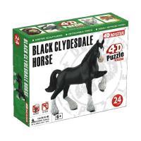 Пазл 4D Master Лошадь тяжеловоз черная Фото