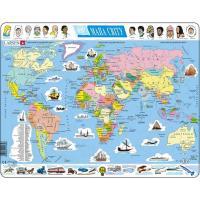 Пазл Larsen серии Макси Политическая карта мира (укр.язык) Фото