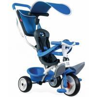 Дитячий велосипед Smoby с козырьком, багажником и сумкой Синий Фото