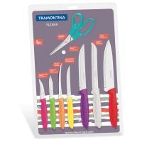 Набір ножів Tramontina Plenus 8 предметов (7 ножей + ножницы) Фото