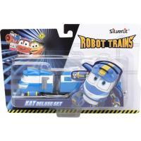 Игровой набор Silverlit Robot Trains Паровозик с двумя вагонами Кей Фото