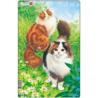 Пазл Larsen рамка-вкладыш Коты пушистые серия МИДИ Фото