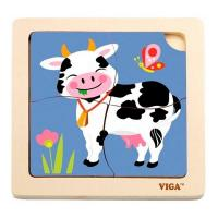 Пазл Viga Toys Корова Фото