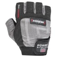 Перчатки для фитнеса Power System Fitness PS-2300 S Grey/Black Фото