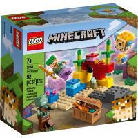 Конструктор LEGO Minecraft Коралловый риф 92 детали Фото
