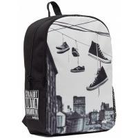Рюкзак шкільний Mojo Бруклин Обувь на проводе Черно-белый Фото