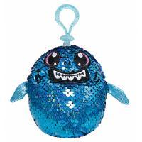 М'яка іграшка Shimmeez с пайетками S2 Акула Зубастик на клипсе 9 см Фото