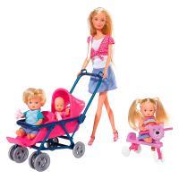 Лялька Simba Штеффи с детьми и аксессуарами Фото