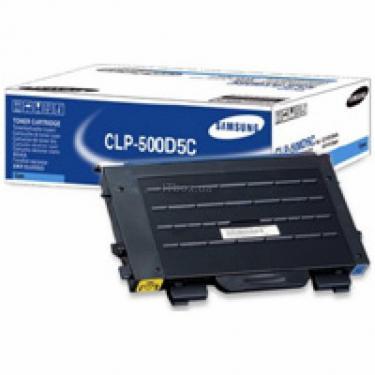 Картридж CLP-500, cyan, 5000стр. Samsung (CLP-500D5C) - фото 1