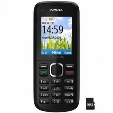 Мобильный телефон C1-02 Black Nokia (002S8X4) - фото 1