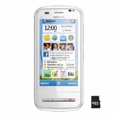 Мобільний телефон C6-00 White Nokia (002X0W6) - фото 1