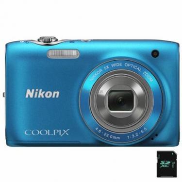 Цифровой фотоаппарат Coolpix S3100 blue Nikon (VMA715E1) - фото 1