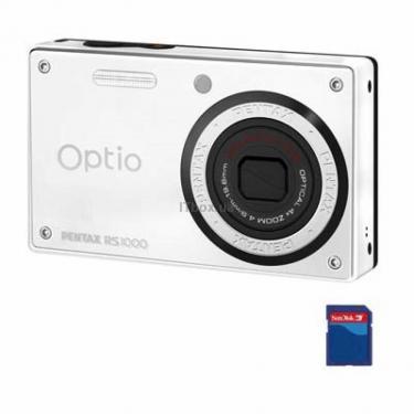 Цифровий фотоапарат Optio RS1000 white Pentax (16637) - фото 1