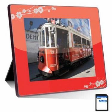 Цифрова фоторамка NT-2804 red-grey Ergo (NT-2804 Red-Grey) - фото 1