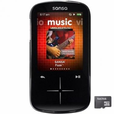 mp3 плеер Sansa Fuze+ black SanDisk (SDMX20R-016GK-E57) - фото 1