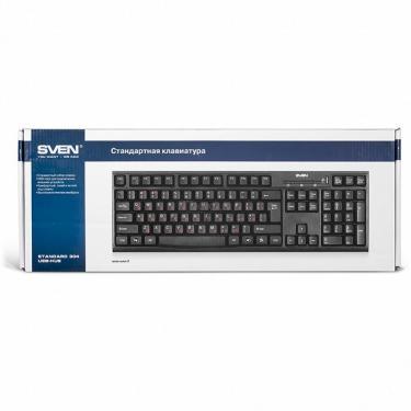 Клавіатура SVEN 304 Standard USB+HUB, black - фото 4