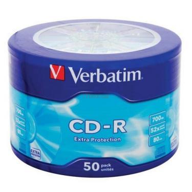 Диск CD Verbatim 700Mb 52x Spindle Wrap box Extra (43728) - фото 1