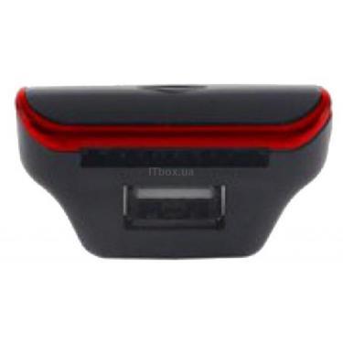 Автомобильный MP3-FM модулятор Grand-X CUFM24GRX red SD/USB (CUFM24GRX red) - фото 3