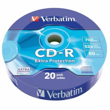 Диск CD Verbatim 700Mb 52x Wrap-box Extra (43784) - фото 1