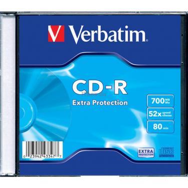 Диск CD Verbatim 700Mb 52x Slim case 200шт Non-AZO (43347) - фото 1