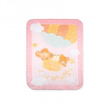 Детское одеяло Luvena Fortuna розовое с рисунком животных Фото