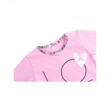 """Пижама Matilda с сердечками """"Love"""" (7585-92G-pink) - фото 6"""