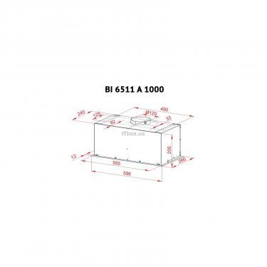 Витяжка кухонна Perfelli BI 6511 A 1000 I - фото 7
