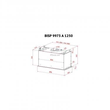 Вытяжка кухонная Perfelli BISP 9973 A 1250 W LED Strip Фото 8