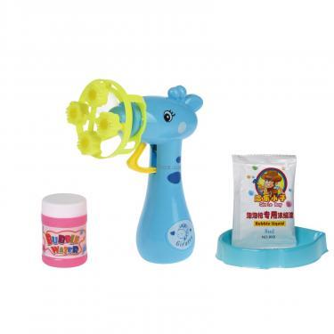 Игровой набор Same Toy мыльные пузыри Bubble Gun Жираф синий Фото