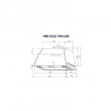 Вытяжка кухонная Minola HBI 5322 BL 750 LED Фото 2