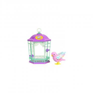 Интерактивная игрушка Moose Птичка в клетке Little Live Pets Rainbow Glow Фото 1