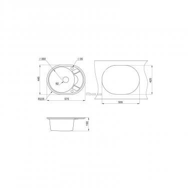 Мойка кухонная Minola MOG 1145-58 Пирит Фото 1