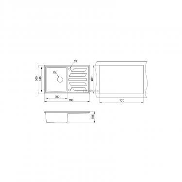Мойка кухонная Minola MPG 1150-79 Графит Фото 1