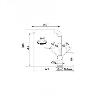 Кухонний змішувач Franke Active Plus (115.0373.809) - фото 2