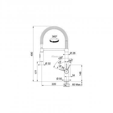 Кухонный смеситель Franke Fox Pro (115.0486.993) - фото 2