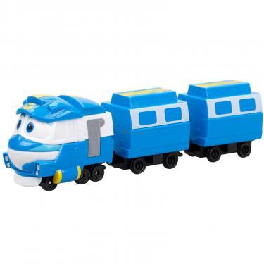 Игровой набор Silverlit Robot Trains Паровозик с двумя вагонами Кей Фото 1