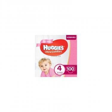 Подгузник Huggies Ultra Comfort 4 Box для девочек (8-14 кг) 100 шт (5029053547848) - фото 1