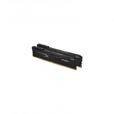 Модуль памяти для компьютера DDR4 16GB (2x8GB) 2666 MHz HyperX Fury Black Kingston (HX426C16FB3K2/16) - фото 1