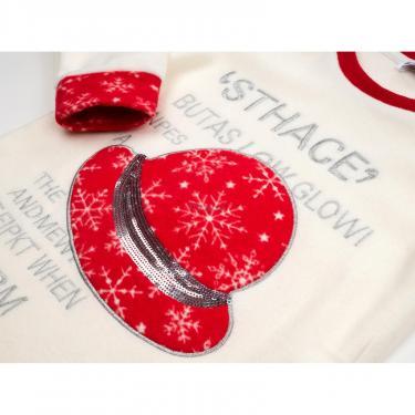 Пижама Matilda флисовая со шляпкой (9110-3-128G-red) - фото 7