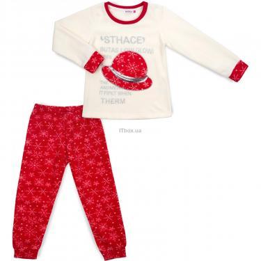 Пижама Matilda флисовая со шляпкой (9110-3-128G-red) - фото 1
