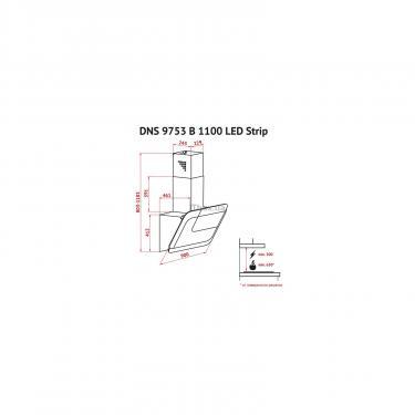 Вытяжка кухонная Perfelli DNS 9753 B 1100 WH/BL LED Strip Фото 6