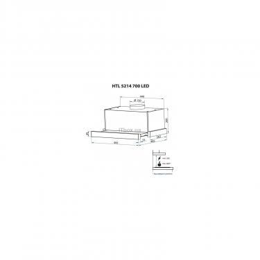 Вытяжка кухонная Minola HTL 5214 I 700 LED Фото 11
