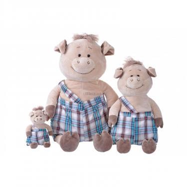 Мягкая игрушка Same Toy Свинка в комбинезоне 45 см Фото 3