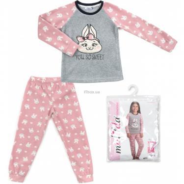 Пижама Matilda флисовая (11013-4-164G-pink) - фото 1