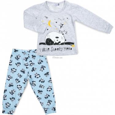 Пижама Matilda с пандами (12122-2-104B-gray) - фото 1