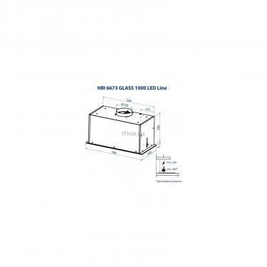 Вытяжка кухонная Minola HBI 6673 WH GLASS 1000 LED Line Фото 9